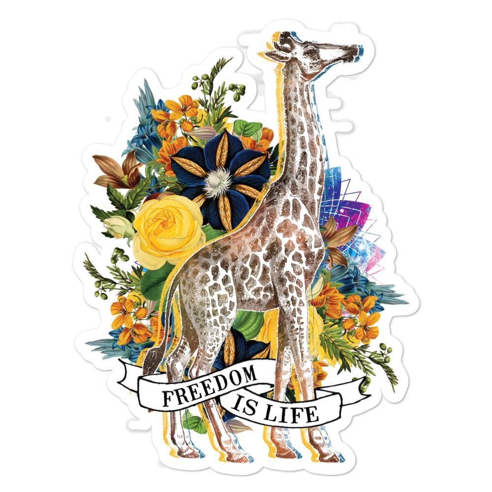 'Freedom is Life (Giraffe)' sticker 1