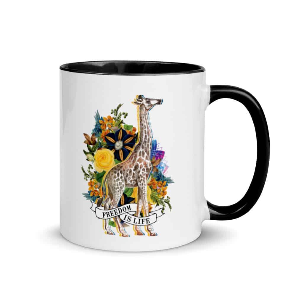 'Freedom is Life (Giraffe)' mug 1