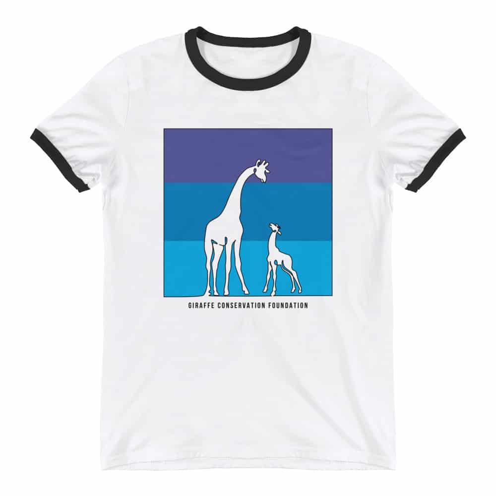 'Giraffe Blues' ringer tee 1